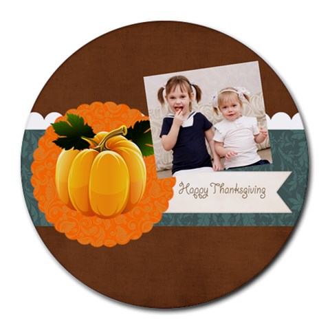 Halloween By Joely   Collage Round Mousepad   Bfoyn5n366xz   Www Artscow Com 8 x8 Round Mousepad - 1