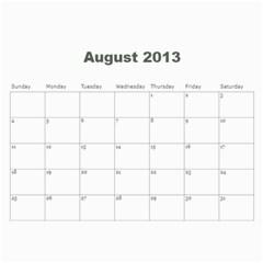 2013 Calendar By J  Richardson   Wall Calendar 11  X 8 5  (12 Months)   Hj1l7y50vf63   Www Artscow Com Aug 2013