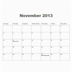 2013 Calendar By J  Richardson   Wall Calendar 11  X 8 5  (12 Months)   Hj1l7y50vf63   Www Artscow Com Nov 2013