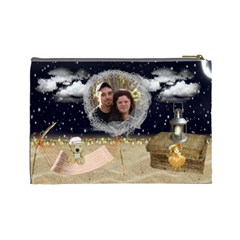 Night On The Beach Cosmetic Bag (large) By Kim Blair   Cosmetic Bag (large)   Pt8k97r5eyy8   Www Artscow Com Back