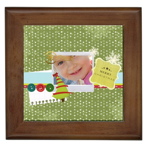 Merry Christmas By Jo Jo   Framed Tile   0tzhznxajry9   Www Artscow Com Front