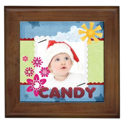 Merry Christmas By Jo Jo   Framed Tile   Czjcv0d82g73   Www Artscow Com Front