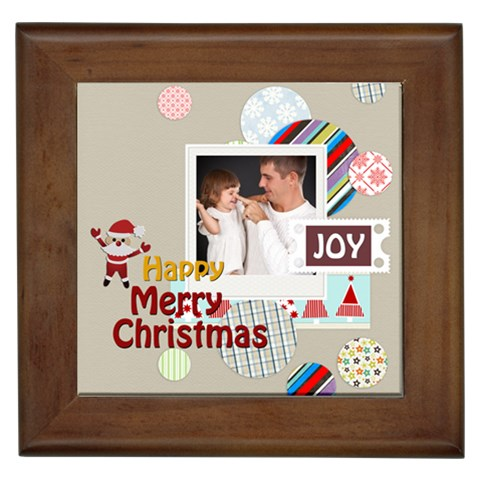 Merry Christmas By Jo Jo   Framed Tile   Mo3m5i4hh344   Www Artscow Com Front