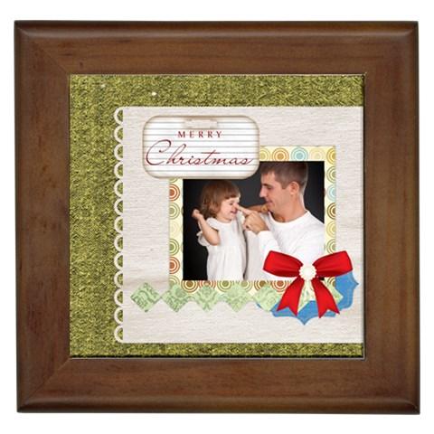 Merry Christmas By Jo Jo   Framed Tile   0n7wa6l87q8j   Www Artscow Com Front