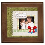merry christmas - Framed Tile