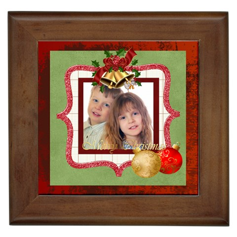 Merry Christmas By Jo Jo   Framed Tile   858r6xyl1q4w   Www Artscow Com Front