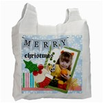 joy, merry christmas - Recycle Bag (One Side)