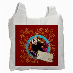 Merry Christmas, Xmas, Happy New Year  By Wood Johnson   Recycle Bag (two Side)   Q4uv3lm6onca   Www Artscow Com Front