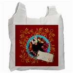 merry christmas, xmas, happy new year  - Recycle Bag (Two Side)