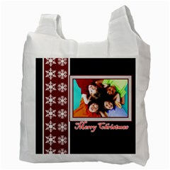 Merry Christmas, Xmas, Happy New Year  By Wood Johnson   Recycle Bag (two Side)   Q4uv3lm6onca   Www Artscow Com Back