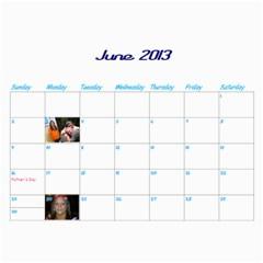 Calendar By Lisa   Wall Calendar 11  X 8 5  (12 Months)   4xhsqy715pbm   Www Artscow Com Jun 2013