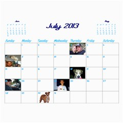 Calendar By Lisa   Wall Calendar 11  X 8 5  (12 Months)   4xhsqy715pbm   Www Artscow Com Jul 2013