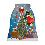Ginderbread couple bell ornament - Bell Ornament (Two Sides)