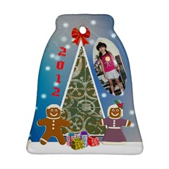 Ginderbread Couple Bell Ornament By Kim Blair   Bell Ornament (two Sides)   Dvvh9u61z92i   Www Artscow Com Back