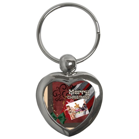 Merry Christmas By Betty   Key Chain (heart)   B0huw9r2a1nx   Www Artscow Com Front