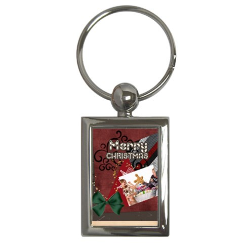 Merry Christmas By Betty   Key Chain (rectangle)   9fuisjiwzsog   Www Artscow Com Front