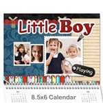 Little Boy , playing - Wall Calendar 8.5  x 6