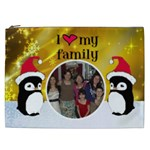 Penguin I love my family cosmetic bag (XXL)
