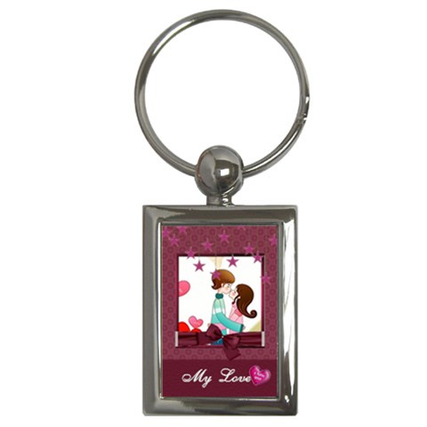 My Love By Joanne5   Key Chain (rectangle)   Ov3jrn9o8ccp   Www Artscow Com Front