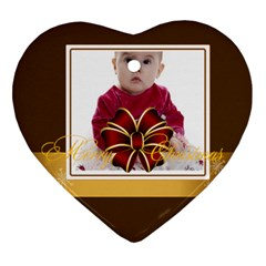 Merry Christmas, Happy New Year , Happy, Xmas By Clince   Heart Ornament (two Sides)   48r4x0167ylr   Www Artscow Com Front