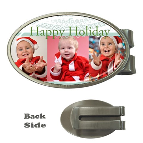 Merry Christmas, Happy New Year, Season By Man   Money Clip (oval)   A8prywoc6cuw   Www Artscow Com Front