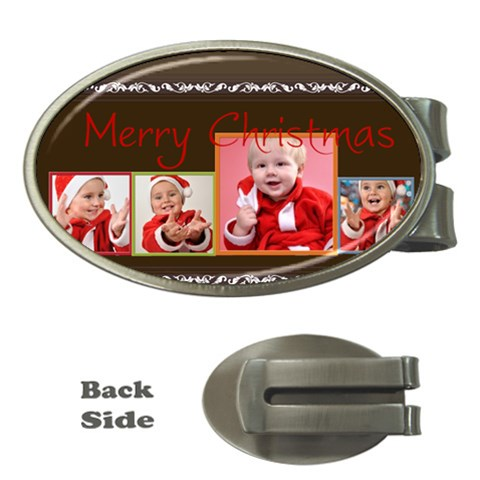 Merry Christmas, Happy New Year, Season By Man   Money Clip (oval)   Umt1st26er8e   Www Artscow Com Front