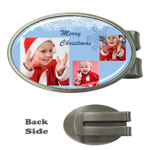 Merry Christmas, Happy New Year, Season By Man   Money Clip (oval)   Vgqbwlk5s041   Www Artscow Com Front