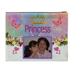 Princess And Roses Cosmetic Bag (xl) By Kim Blair   Cosmetic Bag (xl)   Gesw3xt9lwvu   Www Artscow Com Back