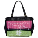 Grandchildren light up my life office bag - Oversize Office Handbag (One Side)