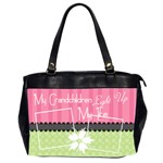Grandchildren light up my life office bag - Oversize Office Handbag (Two Sides)