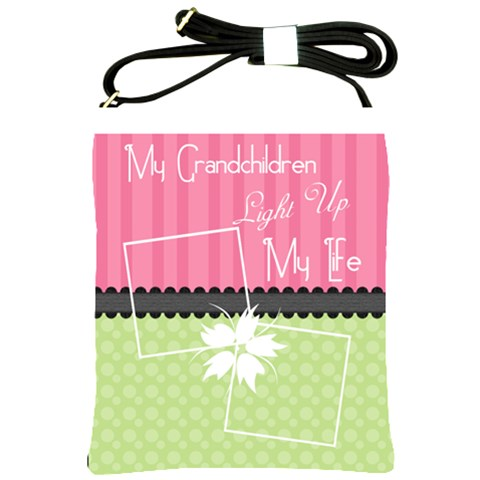 My Grandchildren Light Up My Life Shoulder Sling By Digitalkeepsakes   Shoulder Sling Bag   Hmgi3odjnevo   Www Artscow Com Front