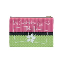 My Grandchildren Light Up My Life Medium Cosmetic By Digitalkeepsakes   Cosmetic Bag (medium)   0k4fg9k1drov   Www Artscow Com Back