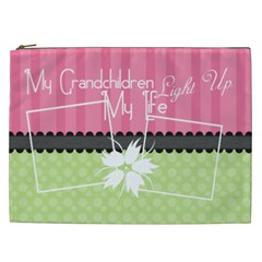 My Grandchildren Light Up My Life Xxl Cosmetic By Digitalkeepsakes   Cosmetic Bag (xxl)   Z6qmsze02a21   Www Artscow Com Front