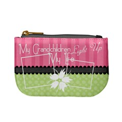 My Grandchildren Light Up My Life Coin Purse By Digitalkeepsakes   Mini Coin Purse   P4mp20bkpbo1   Www Artscow Com Front
