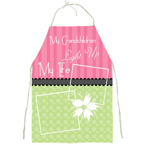 My Grandchildren Light Up My Life Apron By Digitalkeepsakes   Full Print Apron   Hzz53kwar1u4   Www Artscow Com Front