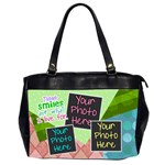 These smiles are what I live for office bag - Oversize Office Handbag (Two Sides)