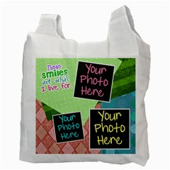 These Smiles Are What I Live For Grocery Bag By Digitalkeepsakes   Recycle Bag (two Side)   L61eaxqpes14   Www Artscow Com Back