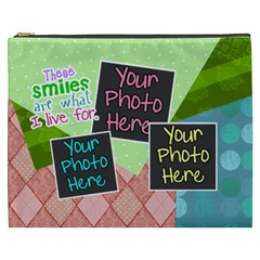 These Smiles Are What I Live For Xxl Cosmetic By Digitalkeepsakes   Cosmetic Bag (xxxl)   5uny4wotwrgd   Www Artscow Com Front