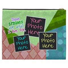 These Smiles Are What I Live For Xxl Cosmetic By Digitalkeepsakes   Cosmetic Bag (xxxl)   5uny4wotwrgd   Www Artscow Com Back