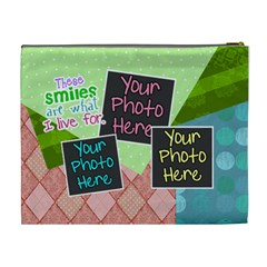 These Smiles Are What I Live For Xl Cosmetic By Digitalkeepsakes   Cosmetic Bag (xl)   Dtbgsri5jgaj   Www Artscow Com Back