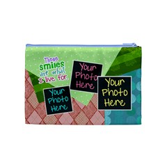 These Smiles Are What I Live For Medium Cosmetic By Digitalkeepsakes   Cosmetic Bag (medium)   Z0jk1vy7lf17   Www Artscow Com Back
