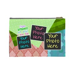 These Smiles Are What I Live For Large Cosmetic By Digitalkeepsakes   Cosmetic Bag (large)   0qqgezyvn2wh   Www Artscow Com Back