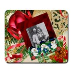 cHristmas pines and ornament Large mouse pad - Large Mousepad