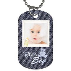 Baby Boy By Joanne5   Dog Tag (two Sides)   8ovk2dbdi91c   Www Artscow Com Front