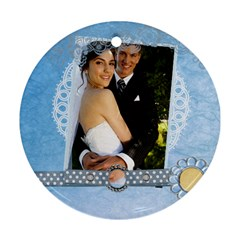 Wedding By Paula Green   Round Ornament (two Sides)   3o7t8f2awc0w   Www Artscow Com Front