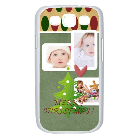 Merry Christmas, Xmas, Happy New Year  By Betty   Samsung Galaxy S Iii Case (white)   Cojxwb6cnhh8   Www Artscow Com Front