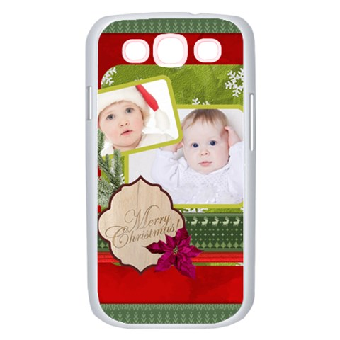 Merry Christmas, Xmas, Happy New Year  By Betty   Samsung Galaxy S Iii Case (white)   43ai1c4ph00n   Www Artscow Com Front