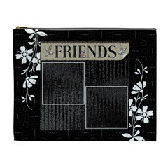 Friends Black Xl Cosmetic Bag By Lil    Cosmetic Bag (xl)   Bz3xjaro4ngg   Www Artscow Com Front
