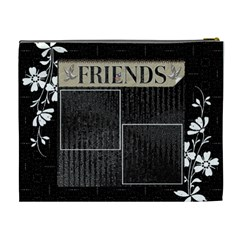 Friends Black Xl Cosmetic Bag By Lil    Cosmetic Bag (xl)   Bz3xjaro4ngg   Www Artscow Com Back