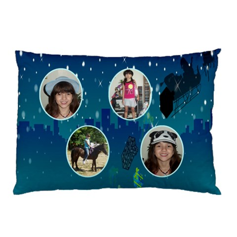 Waiting For Santa Pillow Case By Kim Blair   Pillow Case   L8s0qbf02a9d   Www Artscow Com 26.62 x18.9 Pillow Case
